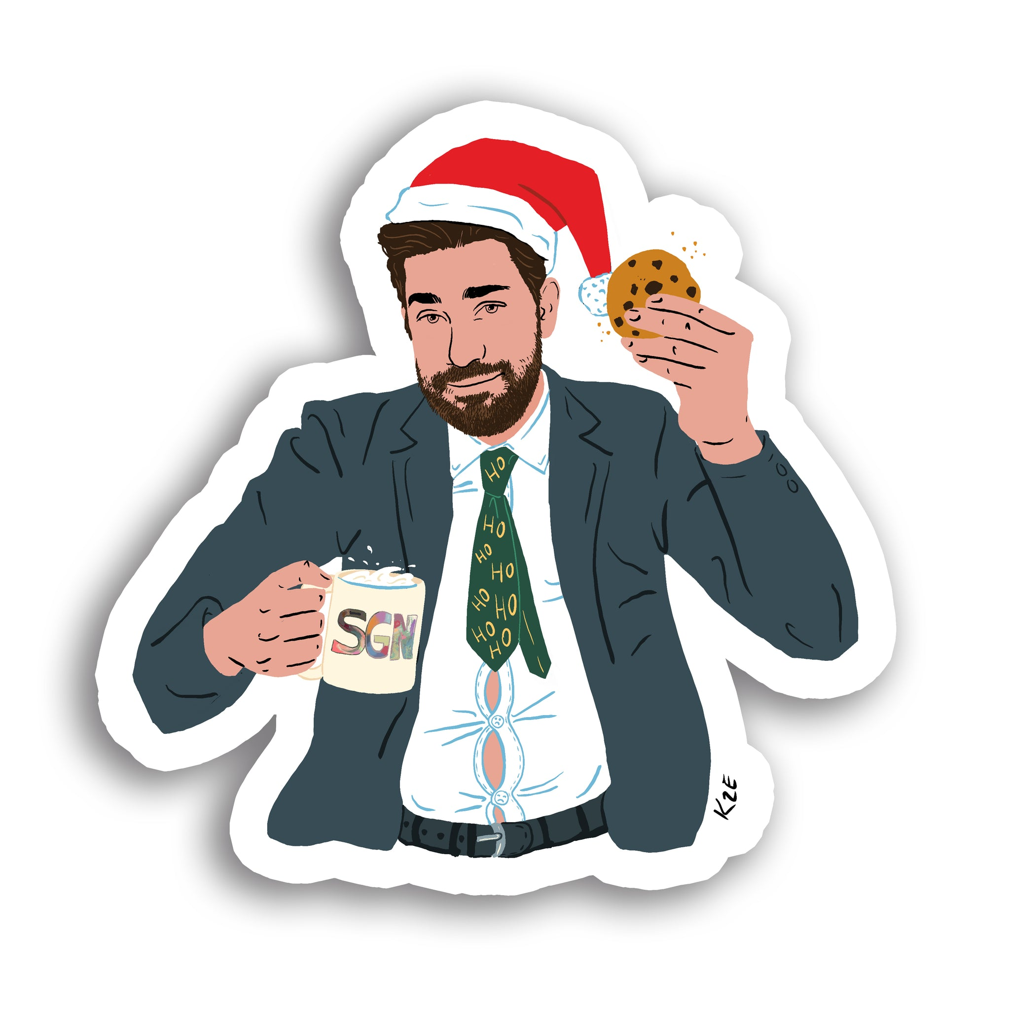 SGN John Christmas Cookies Logo Sticker