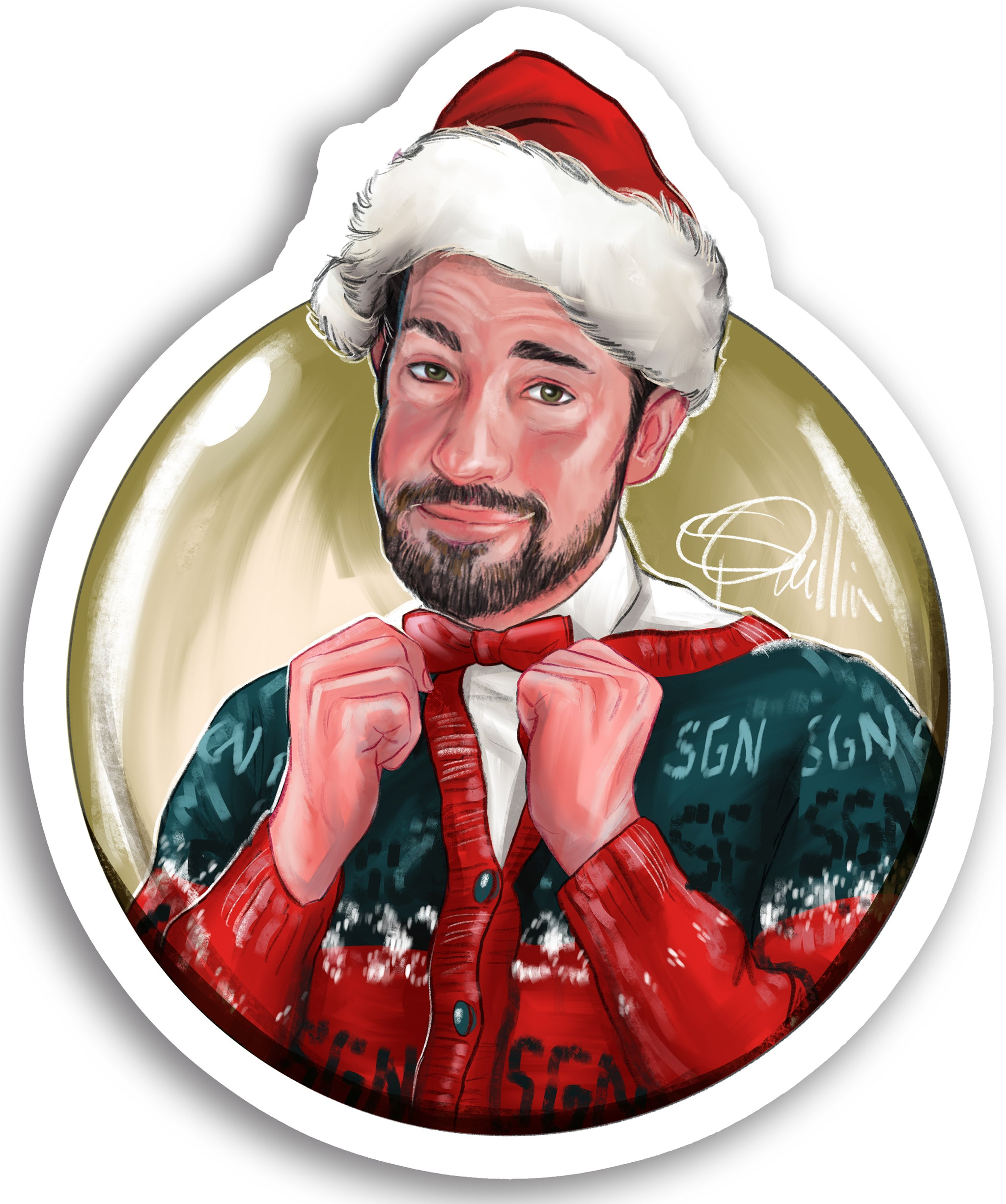 SGN John Christmas Sweater Logo Sticker