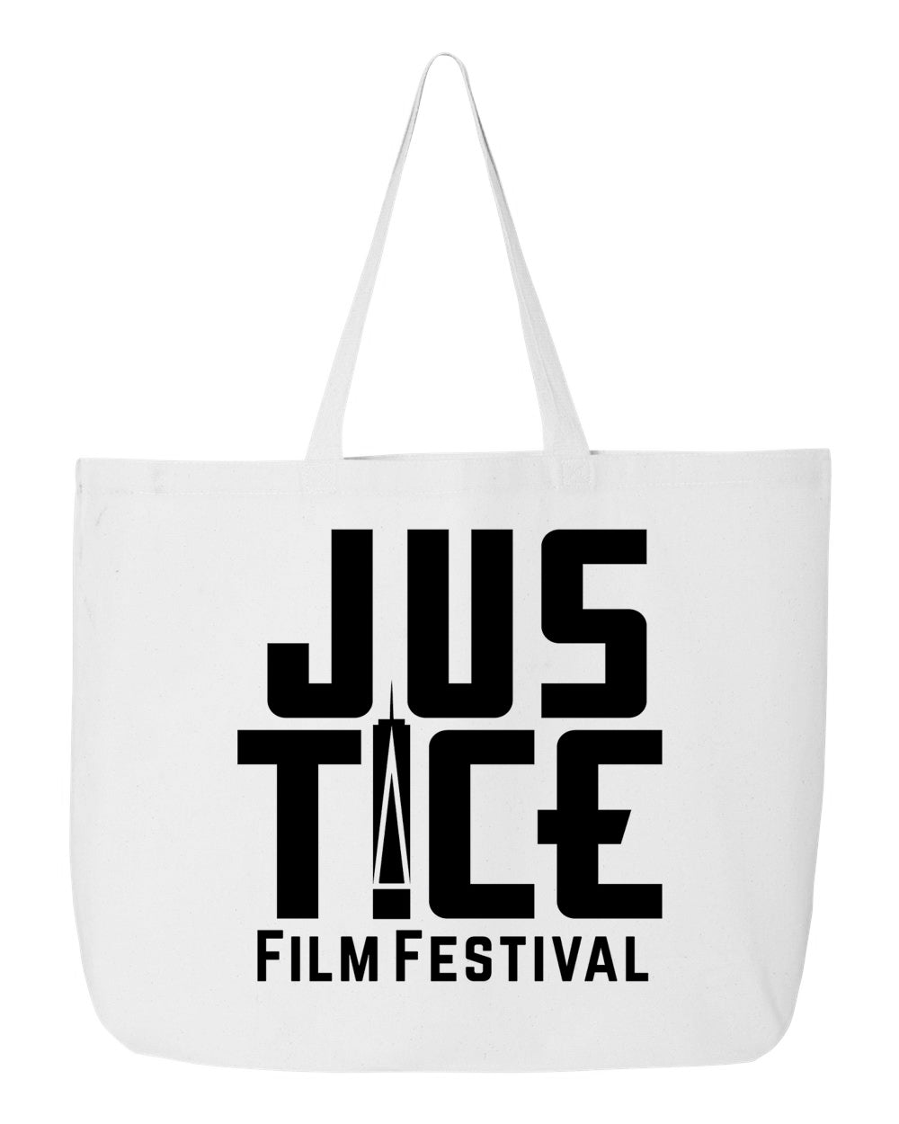 Justice Film Festival Jumbo Cotton Canvas Tote Bag