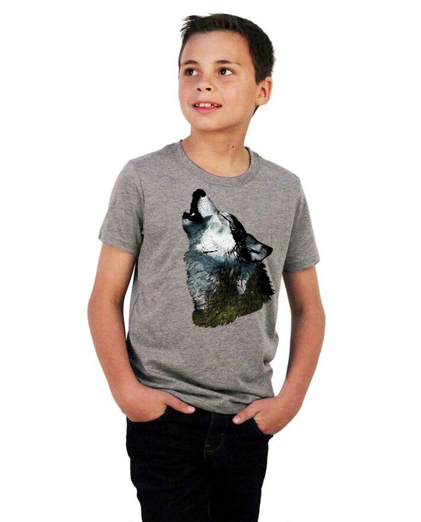 Howling Wolf Youth Short Sleeve Tee