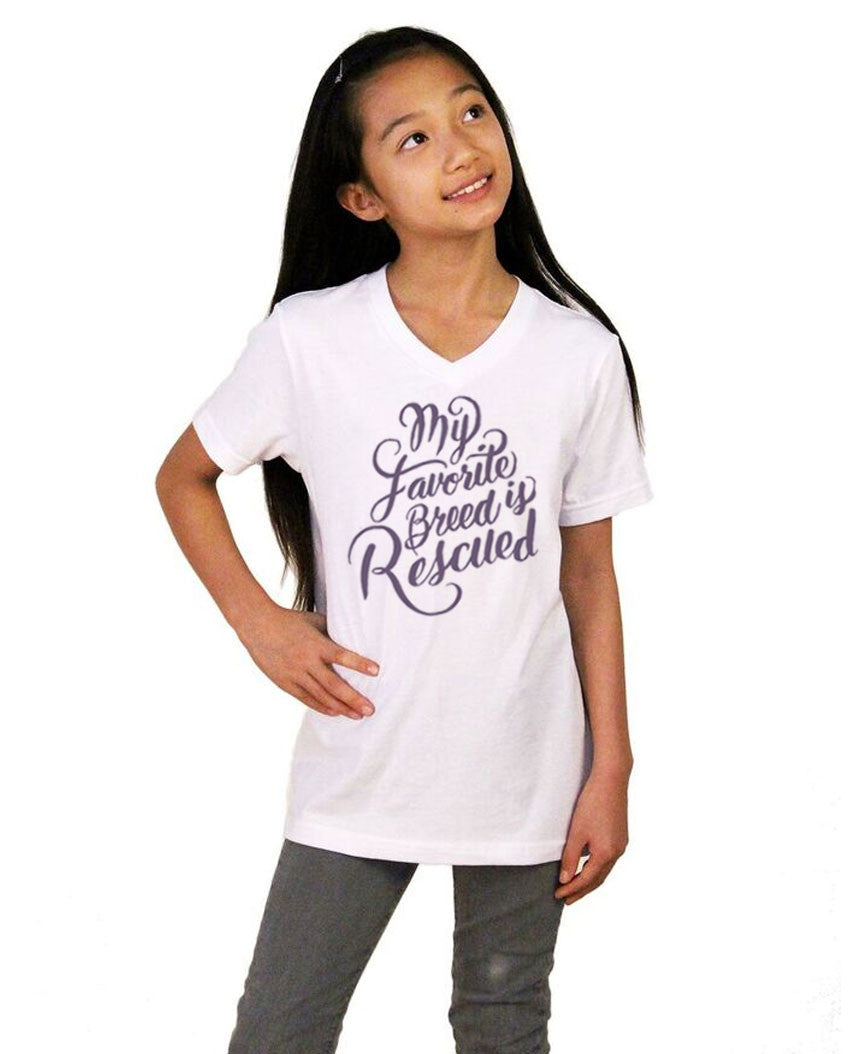 Favorite Breed Youth Jersey Short Sleeve V Neck Tee