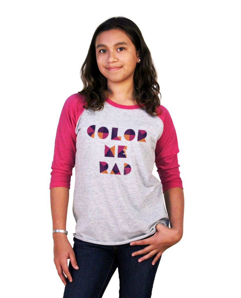 Color Me Rad Youth Vintage Baseball T Shirt