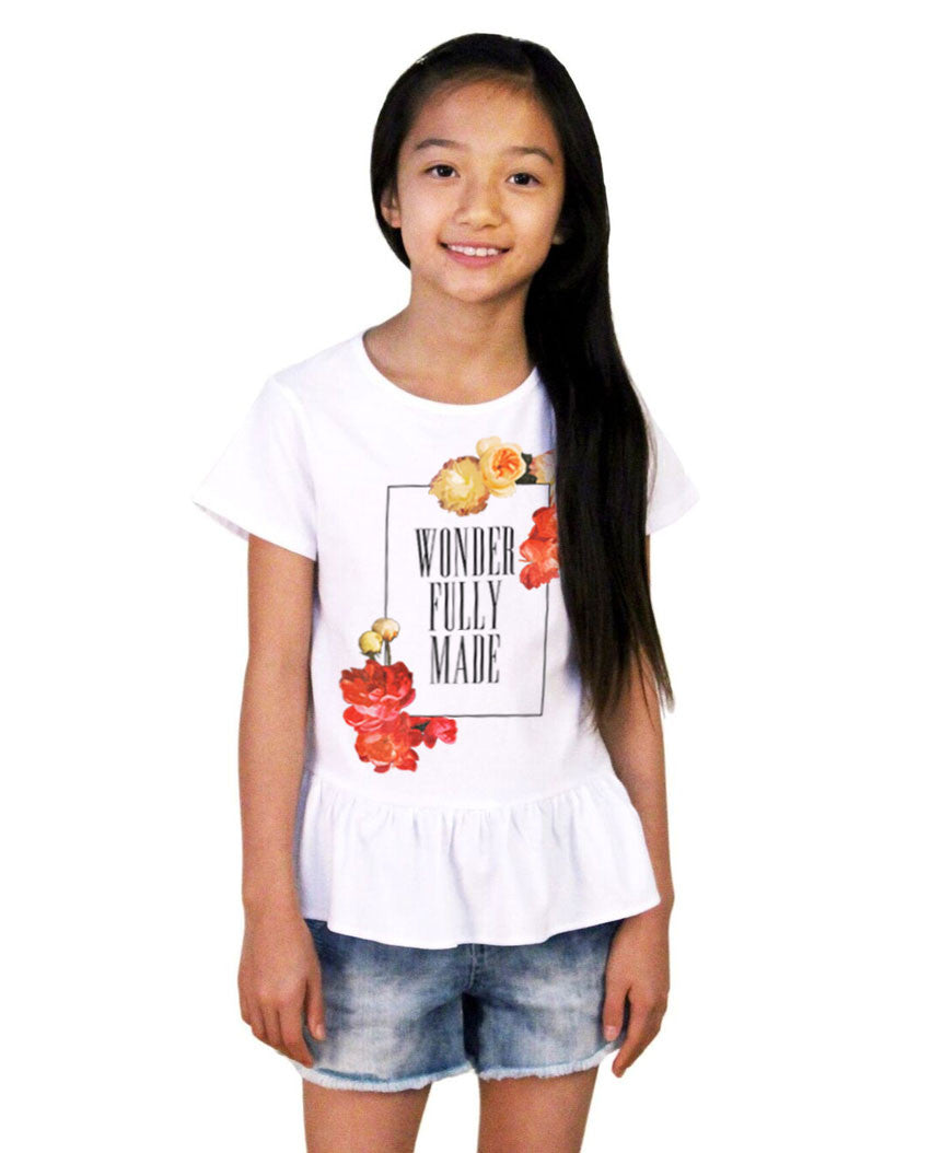 Wonderfully Made Girls Ruffle Tee