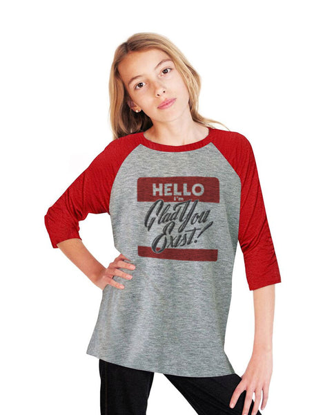 Hello Youth Vintage Baseball T Shirt