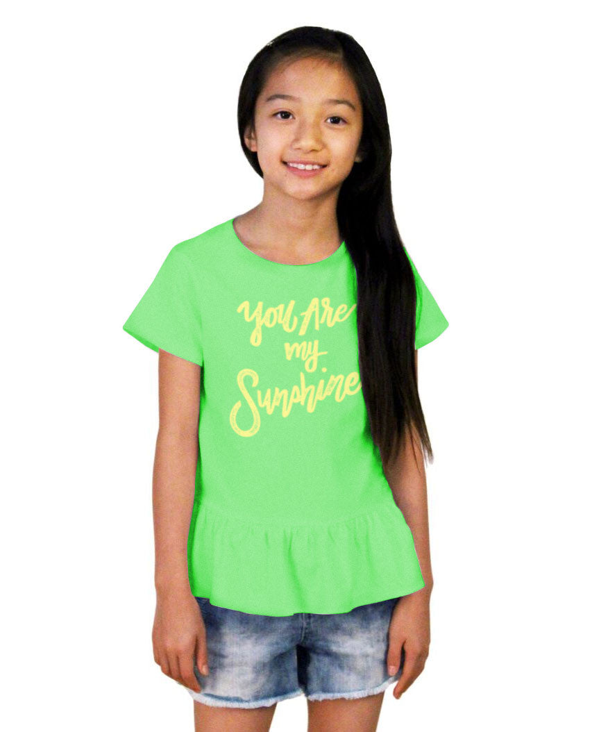 You Are My Sunshine Girls Ruffle Tee