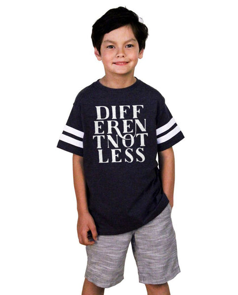 Different Not Less Youth Football Tee