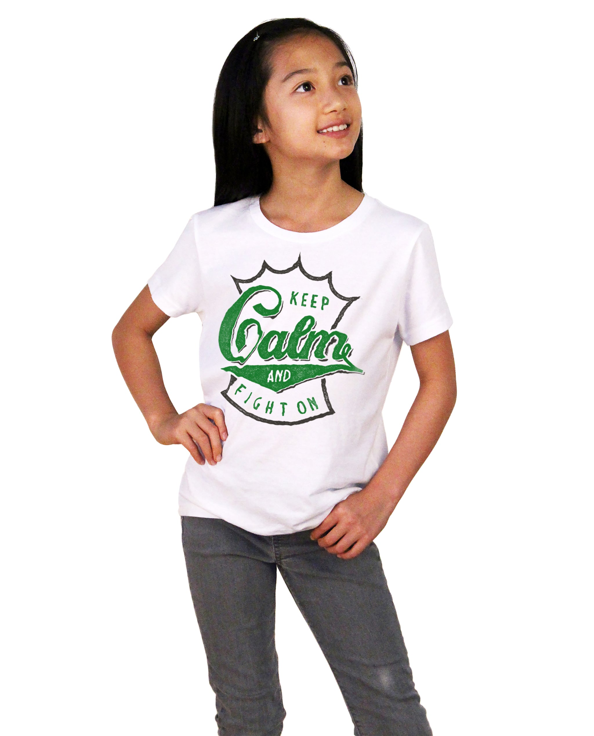 Keep Calm Girls Premium Short Sleeve Crew
