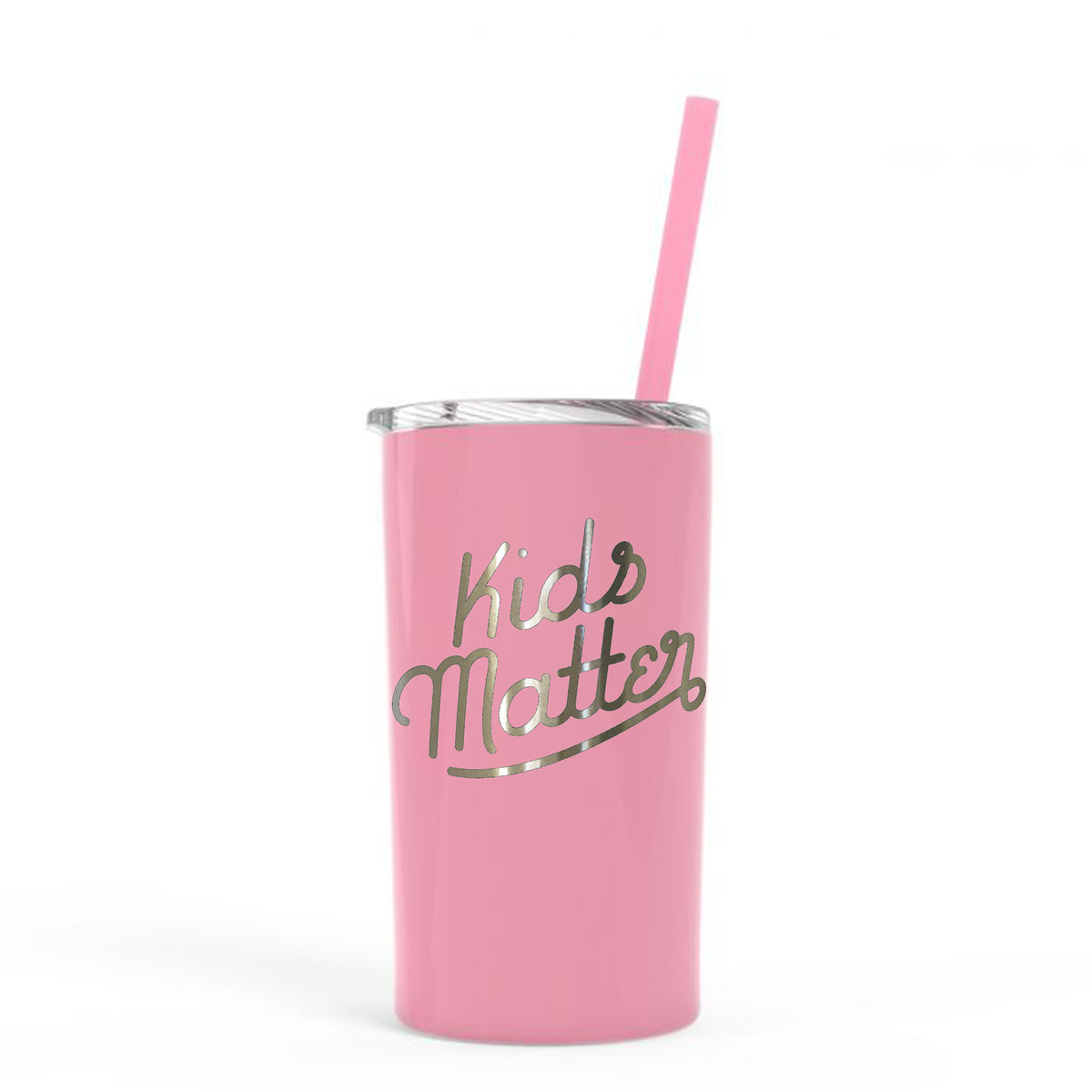 Kids Matter - Super Slim 12 Ounce Stainless Steel Insulated Tumbler With Straw