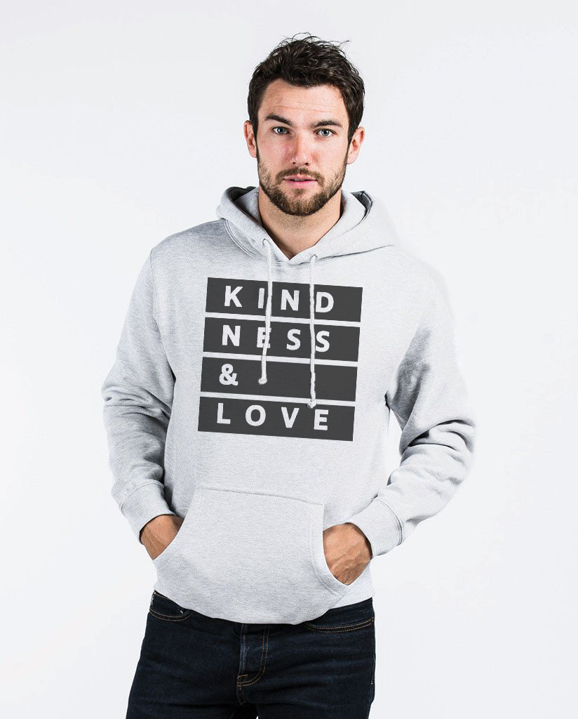 KINDNESS & LOVE - Men's Pull Over Hoodie