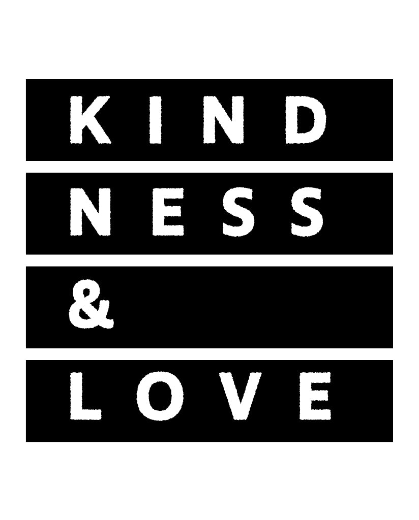 KINDNESS & LOVE Womens Grey Muscle Tank