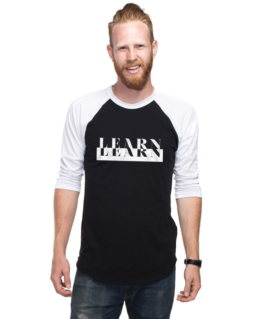 Learn Mens Baseball Tee