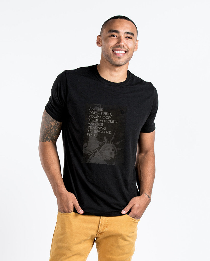 LIBERTY Mens Black Premium Fitted Tee