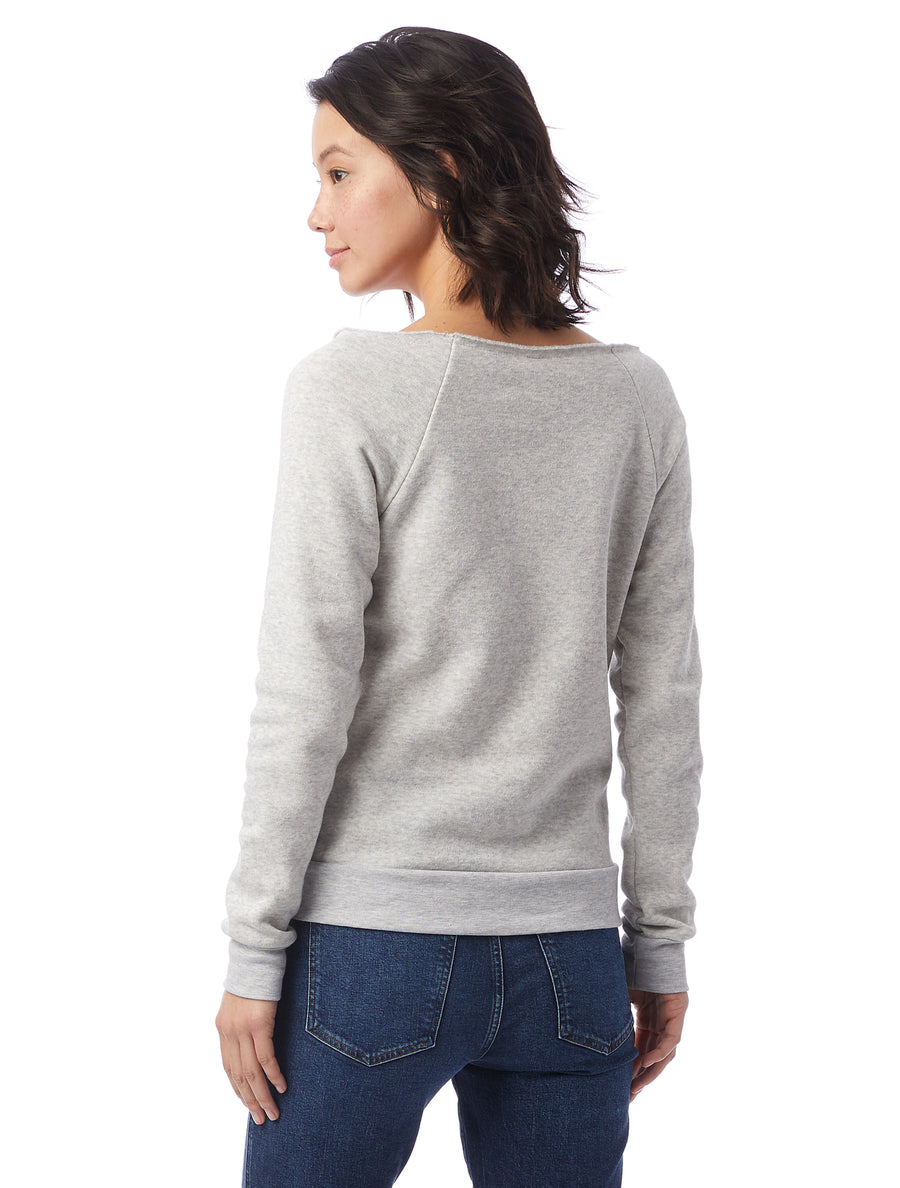 Delicious Is An Important Food Group Sourdough Womens Triblend Slouchy Sweatshirt With Front Pocket And Raw Edge Neck