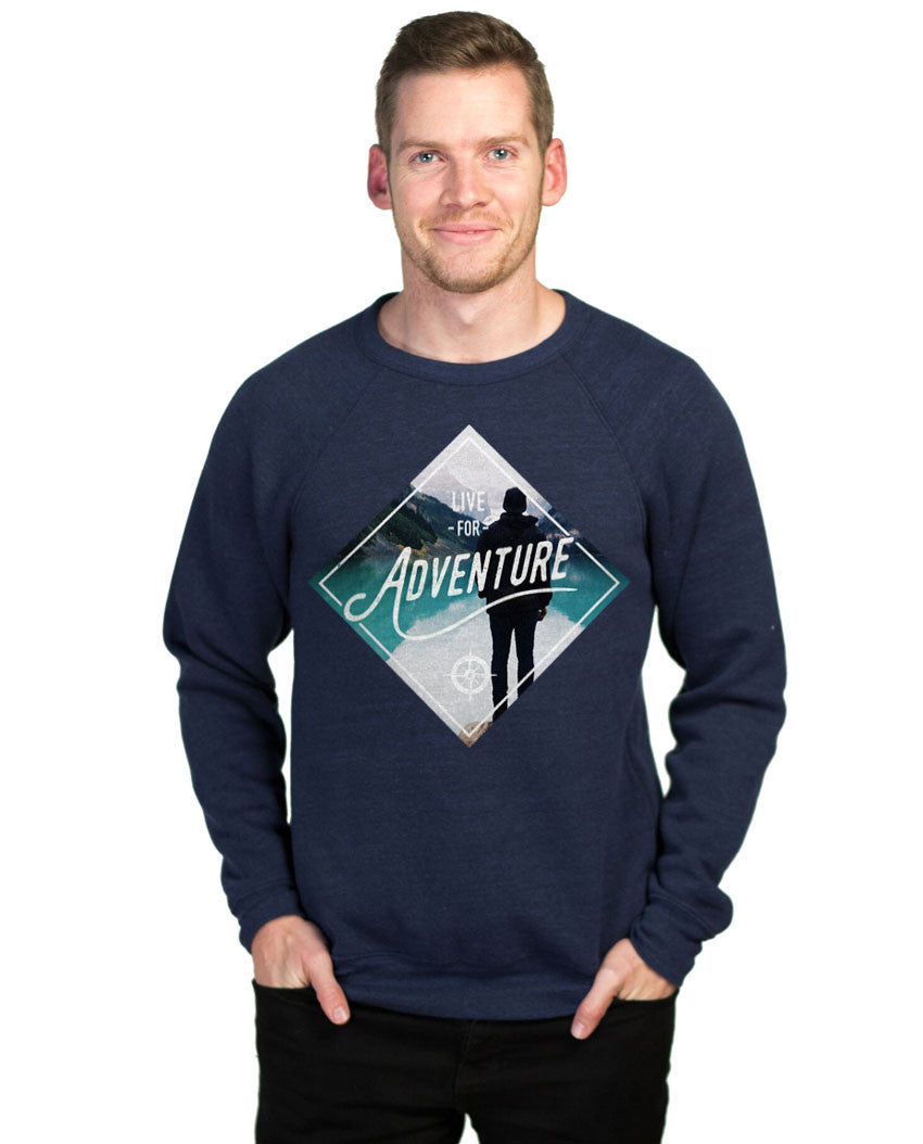 Live For Adventure Fleece Crew Neck Sweatshirt