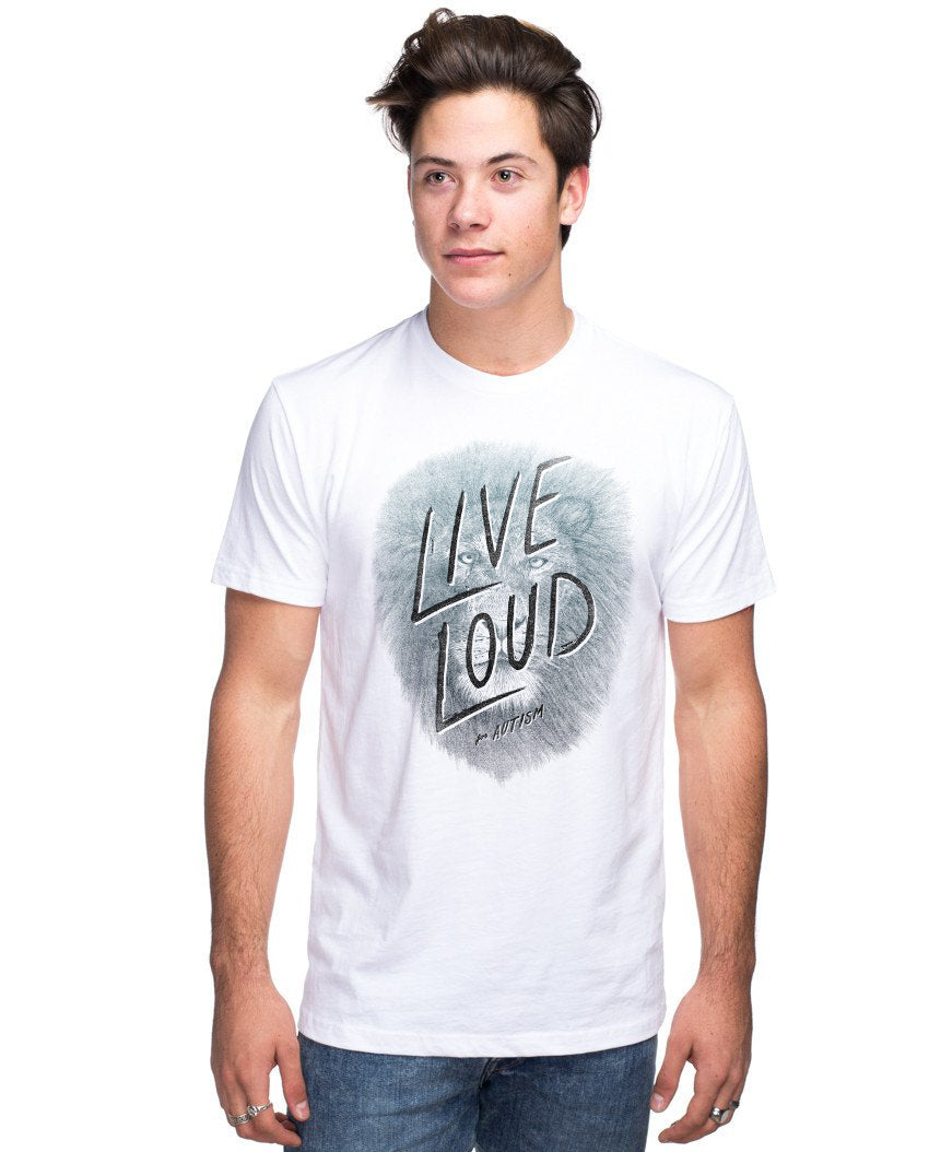 Live Loud Autism Lion Men's Premium Unisex Triblend Short Sleeve Tee