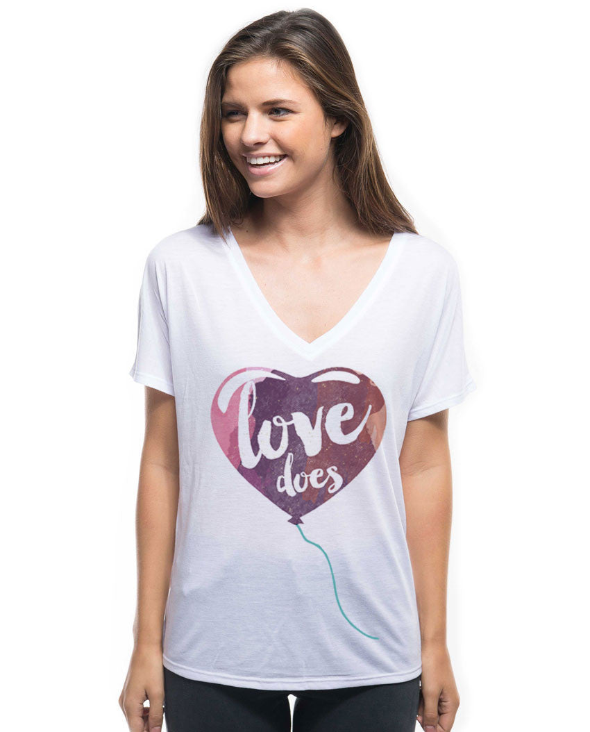Love Does Flowy V Neck