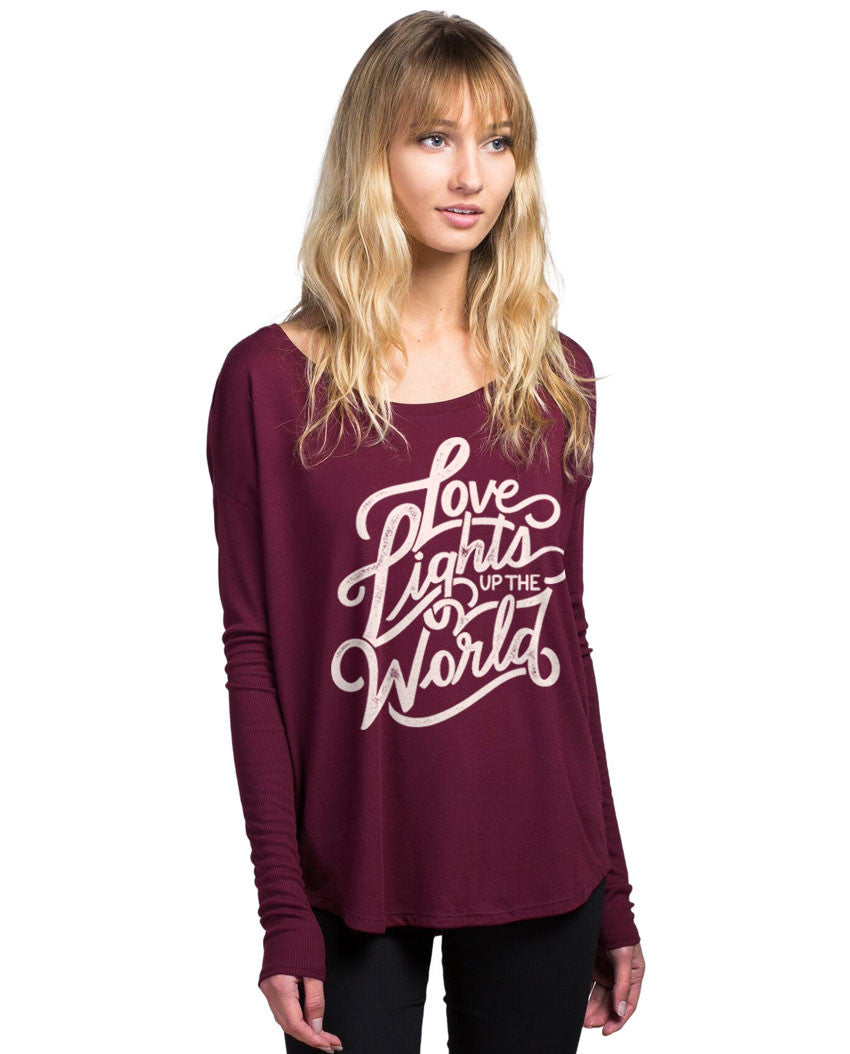 Love Lights Up The World Flowy Long Sleeve Tee