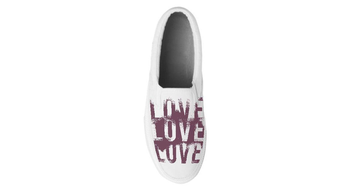 LOVE LOVE LOVE Custom Slip On Shoes