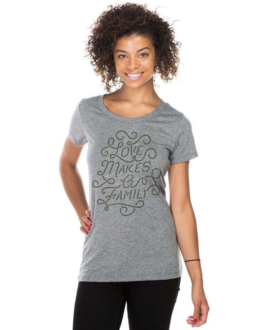 Love Makes A Family Triblend Short Sleeve Tee