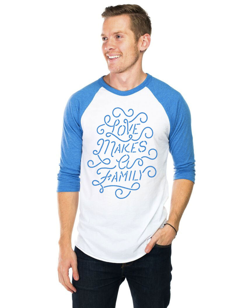 Love Makes A Family Unisex Baseball Tee