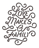 LOVE MAKES A FAMILY Womens Grey Flowy Long Sleeve Tee