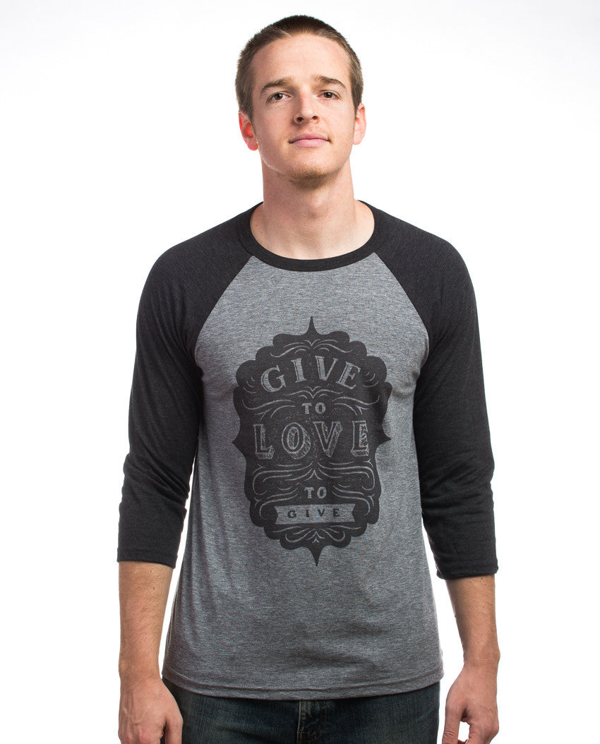 Give To Love Baseball Tee