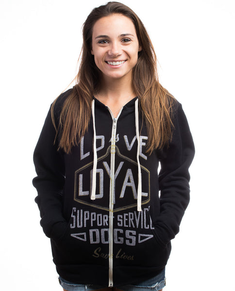 Love Is Loyal Womens Triblend Zip Hoodie