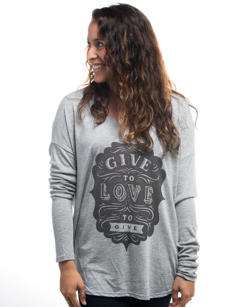 Give To Love Flowy Long Sleeve Tee