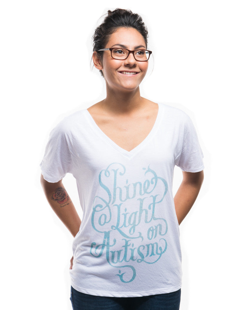 Shine Light On Autism Flowy V Neck