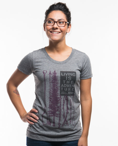 Living Is The Adventure Triblend Short Sleeve Tee