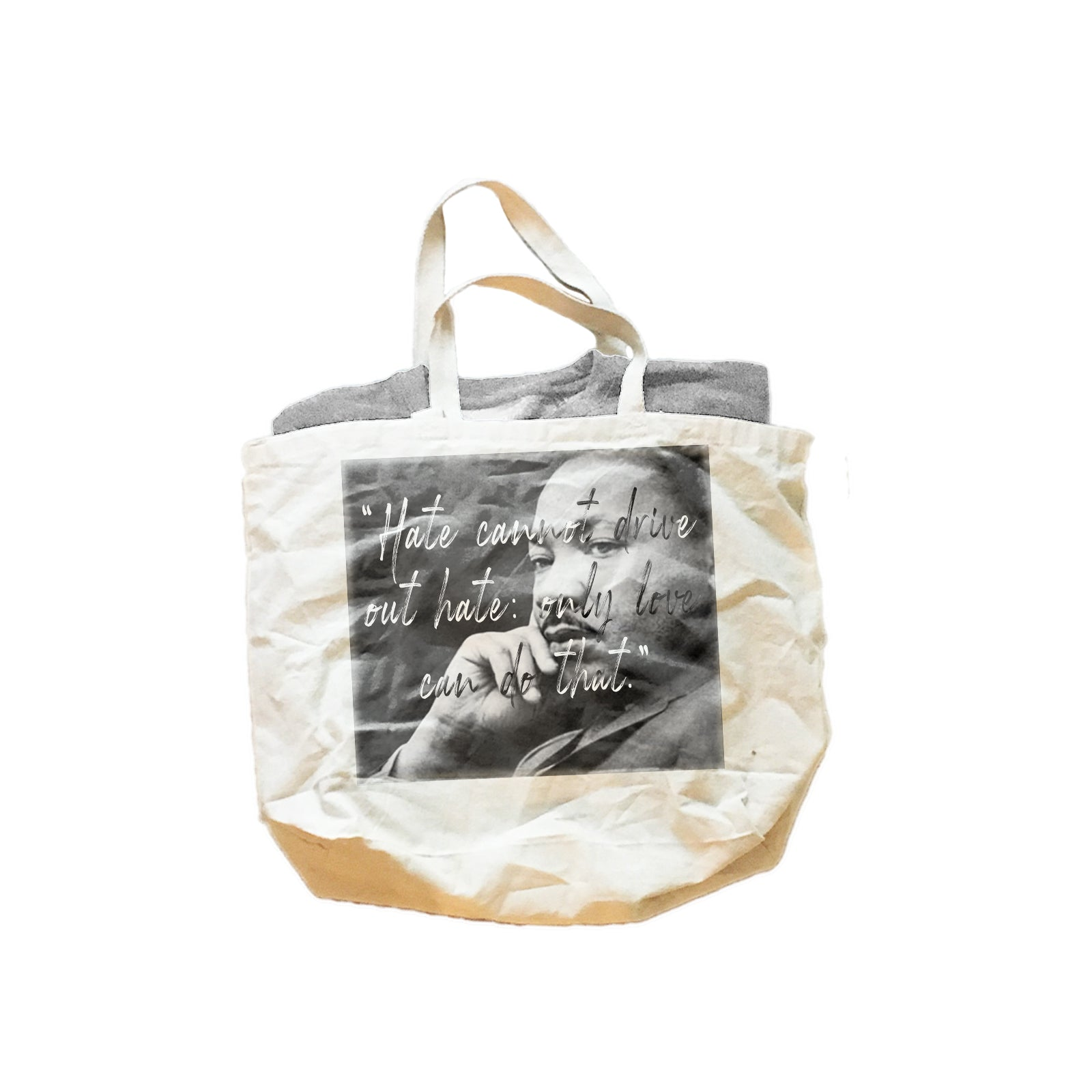 Dr. Martin Luther King Only Love Gift Set - Unisex Crewneck Sweatshirt & Jumbo Cotton Canvas Tote