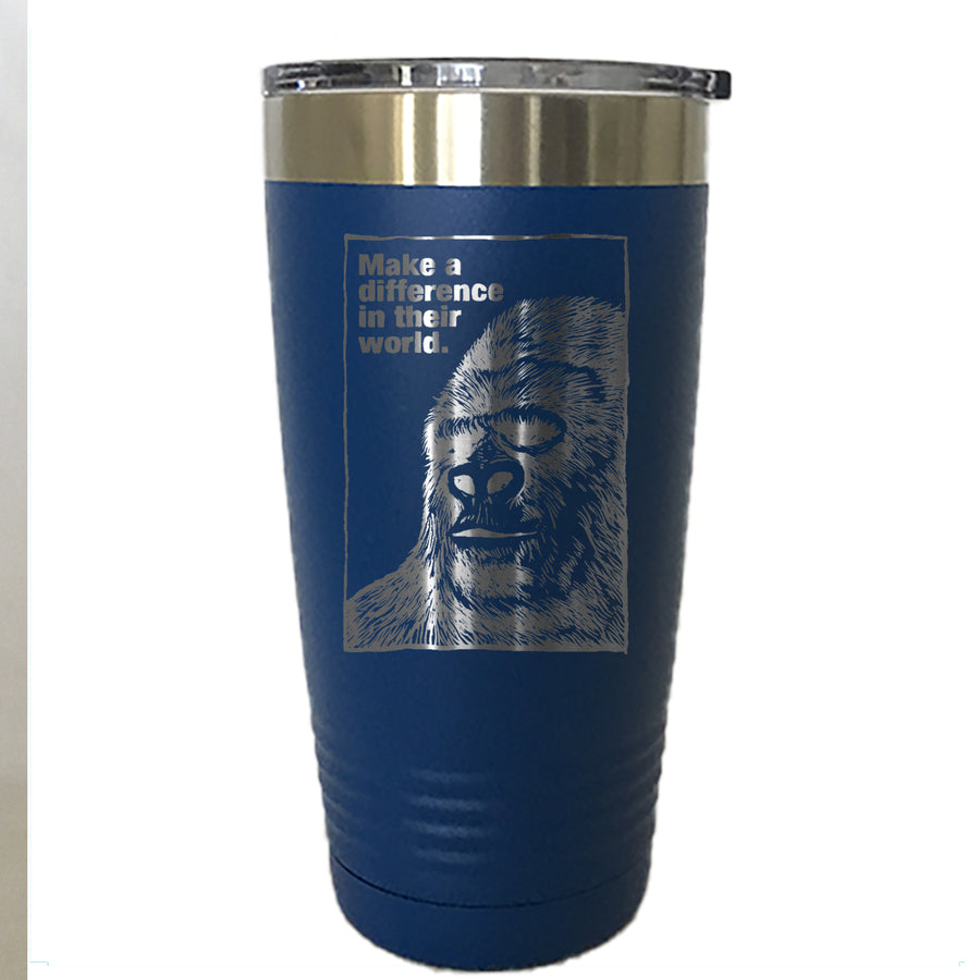 Make A Difference Gorilla - Tumbler Drinkware