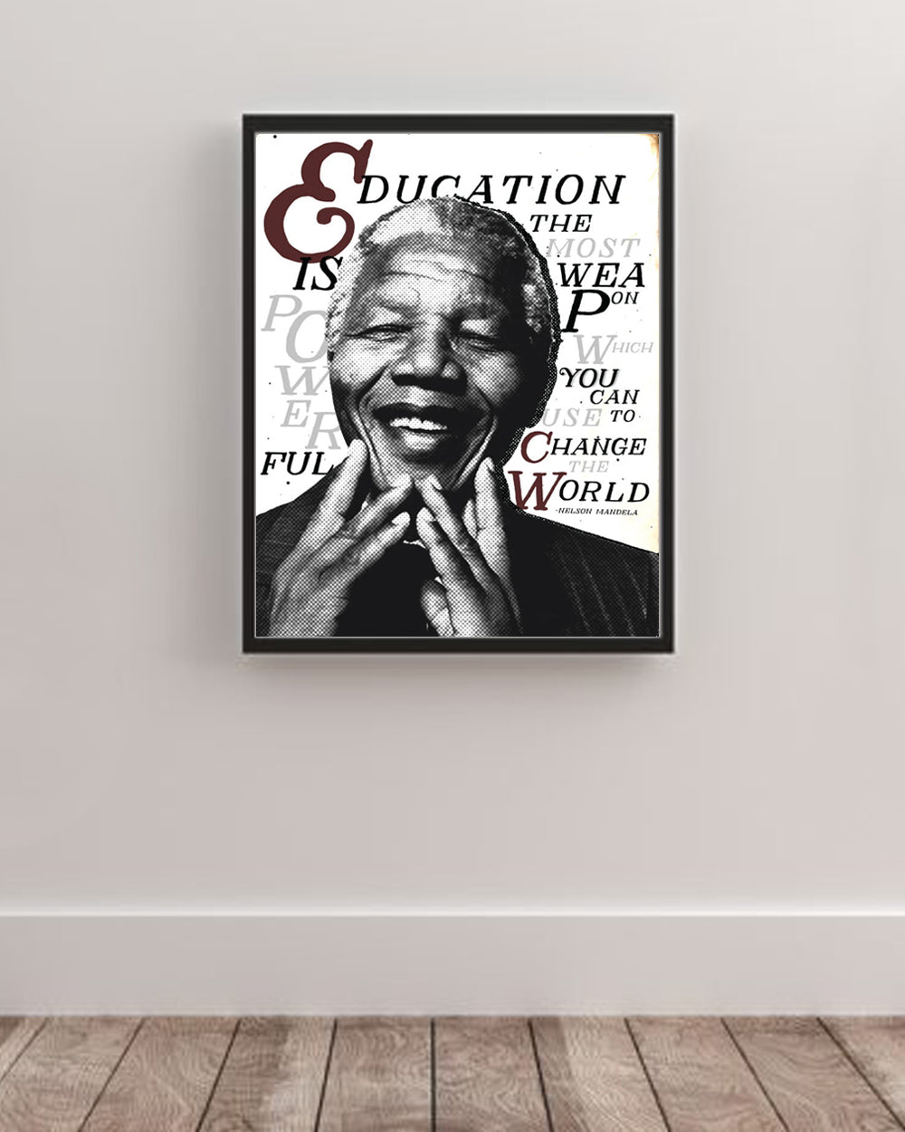 Mandela Education Art Poster