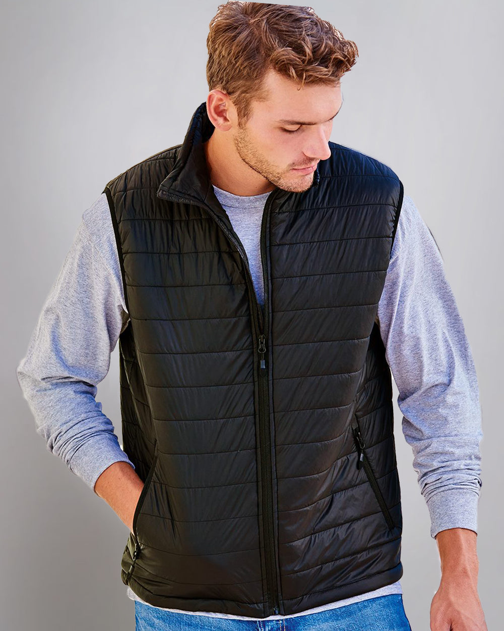 World Changing Men's Hyper-Loft Packable Puffer Vest