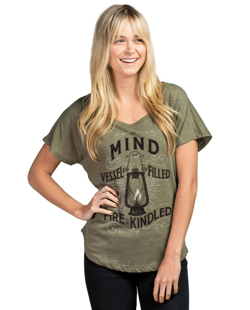 Mind Vessel Fire Women's Flowy Dolman