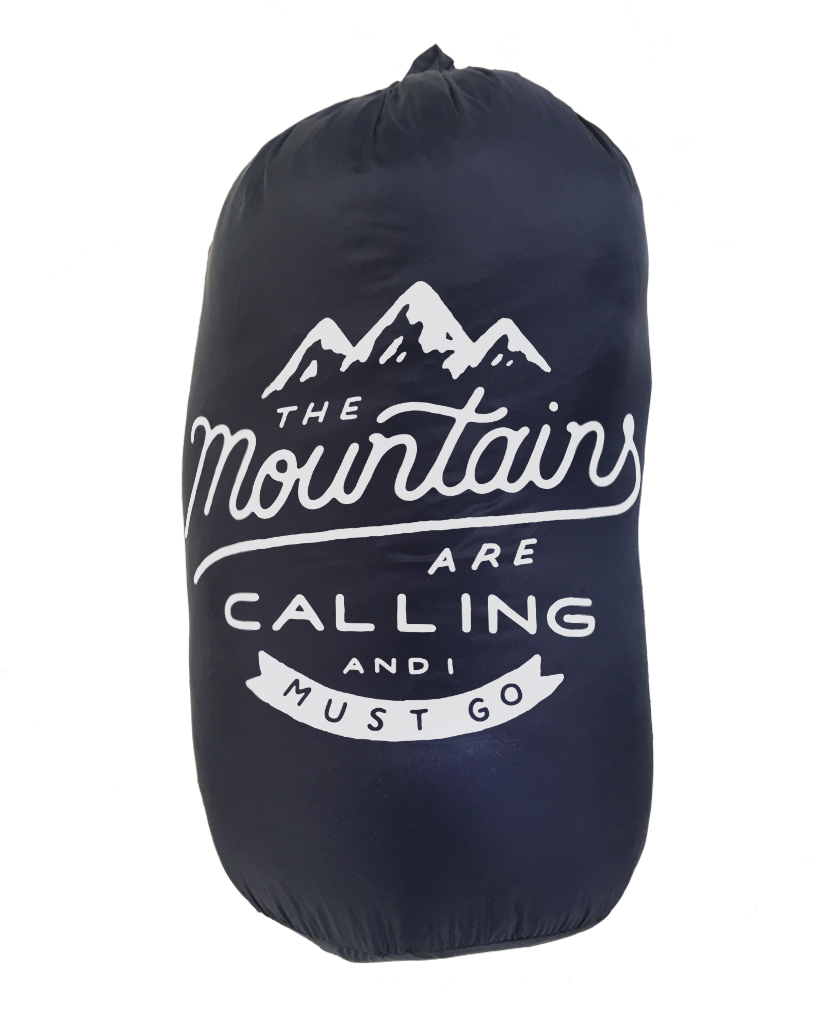 THE MOUNTAINS ARE CALLING Weatherproof Down Puffer Packable Blanket