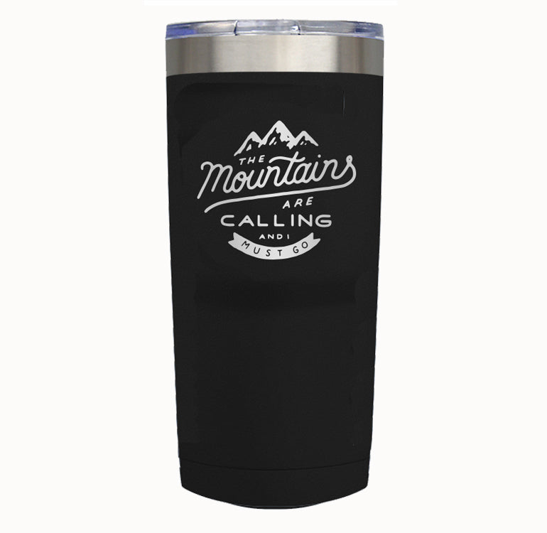 THE MOUNTAINS ARE CALLING Tumbler Drinkware