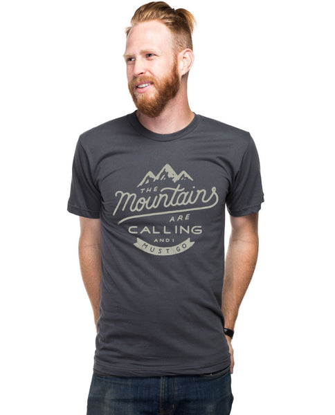 The Mountains Are Calling Fitted Tee
