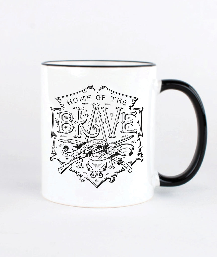 HOME OF THE BRAVE Breakfast Mug