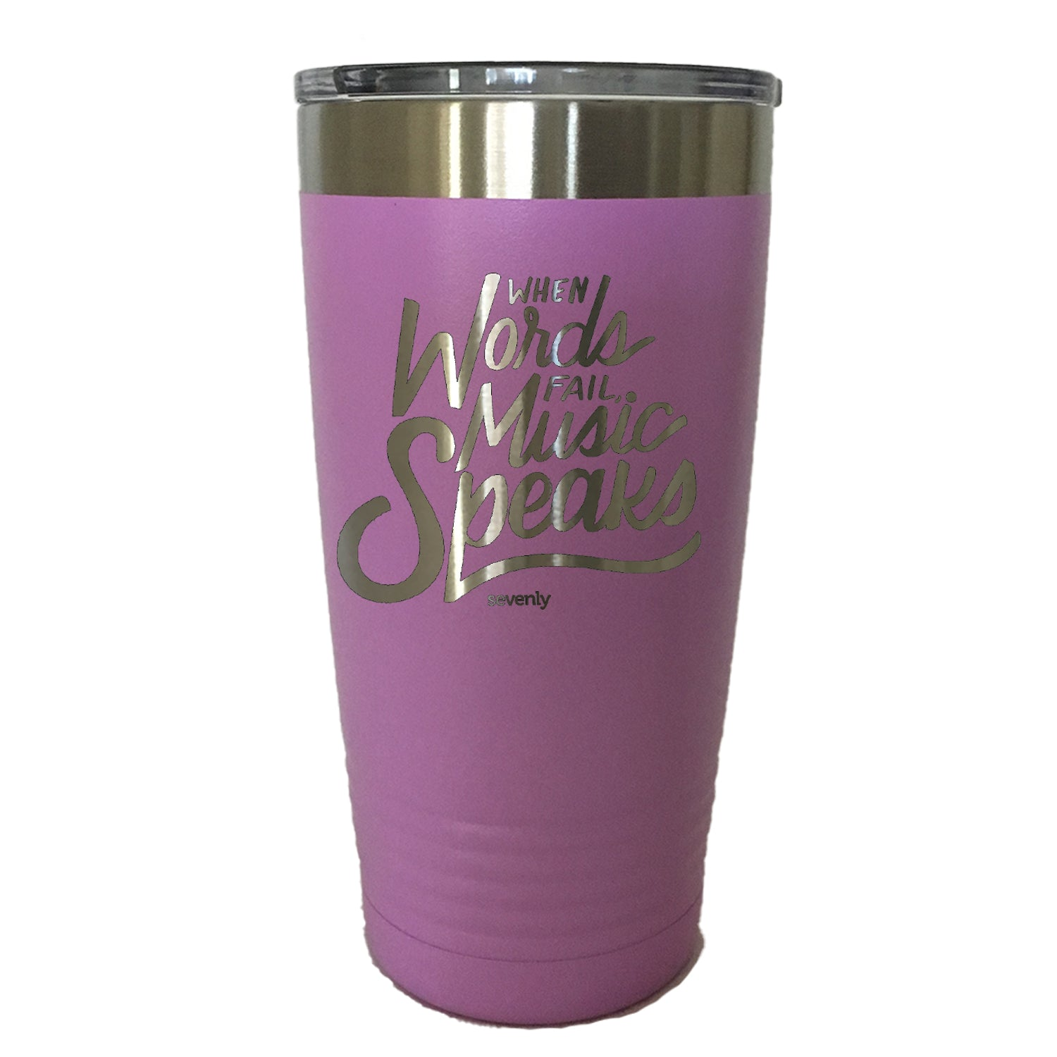 When Words Fail Music Speaks - Tumbler Drinkware