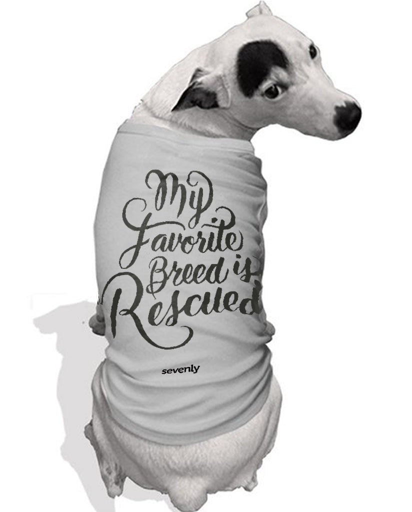 My Favorite Breed Is Rescued Dog Tee
