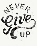 NEVER GIVE UP Womens Black Flowy Raglan