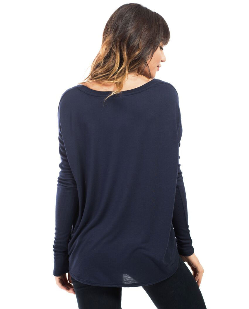 Never Stop Shining Flowy Long Sleeve Tee