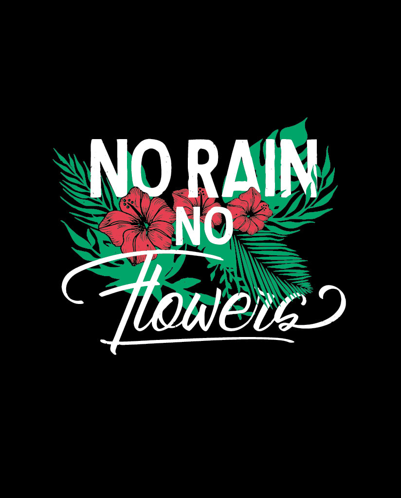 NO RAIN NO FLOWERS Womens Black Flowy Dolman