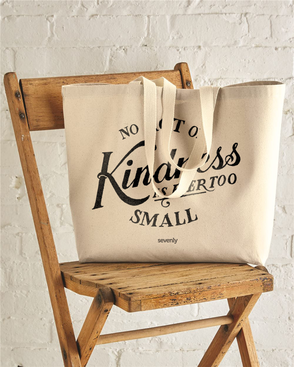 No Single Act Of Kindness Is Ever Too Small Jumbo Cotton Canvas Tote Bag