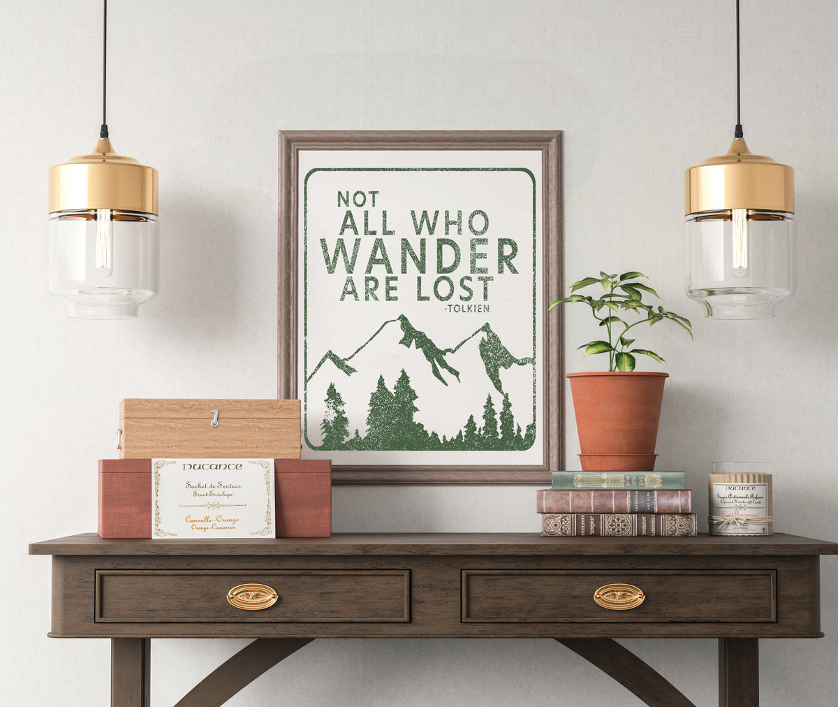 Sevenly - Wall Art - Not All Who Wander Are Lost