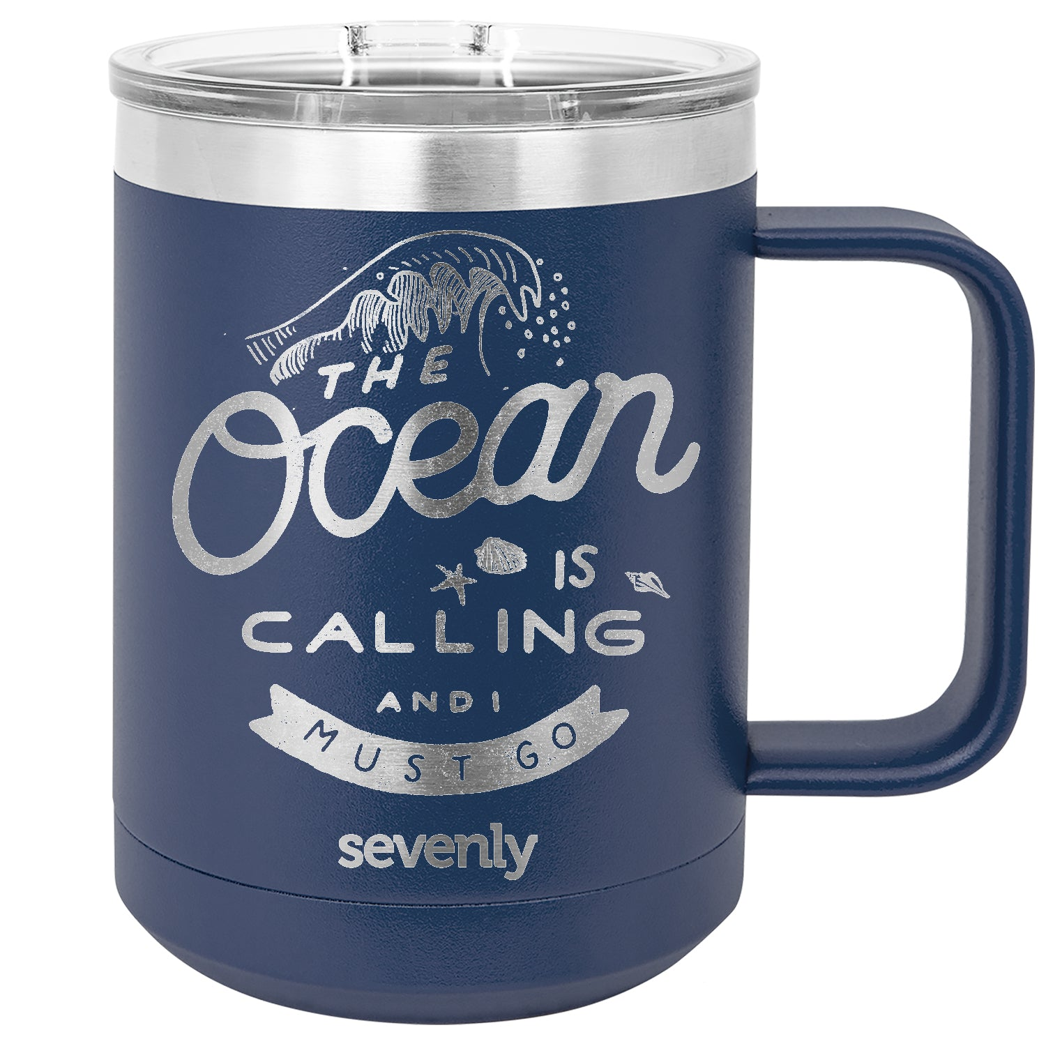 The Ocean is Calling Insulated Mug Drinkware