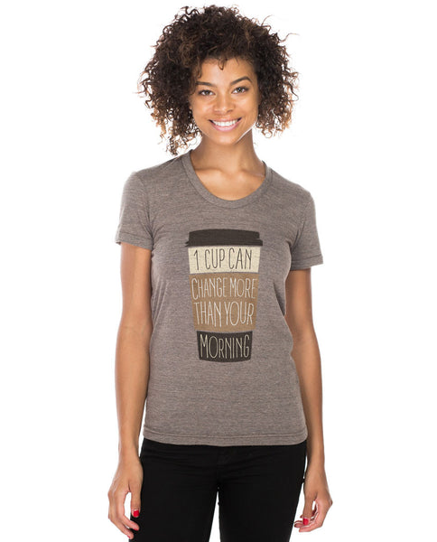 One Coffee Triblend Short Sleeve Tee