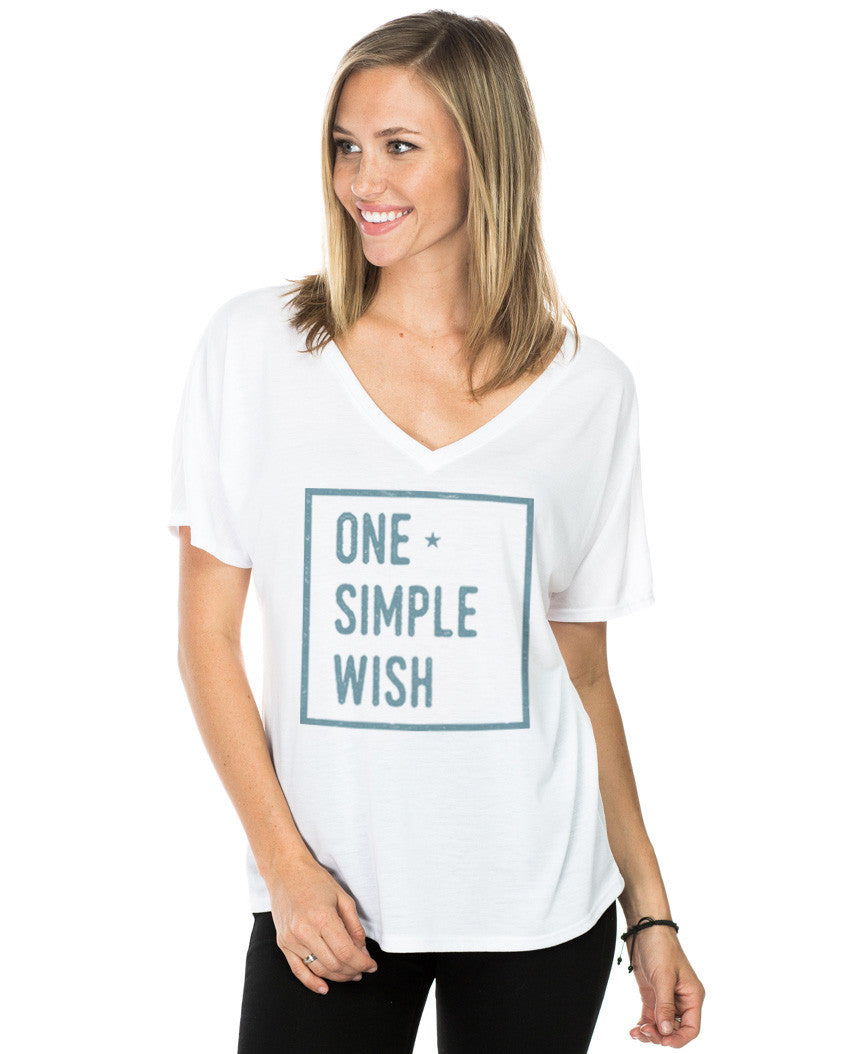 One Simple Wish Flowy V Neck