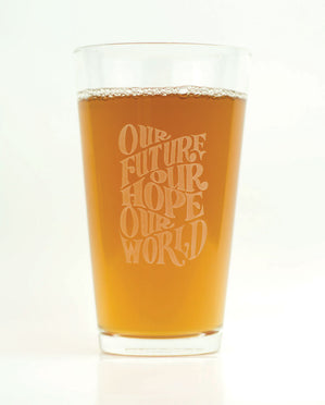Hand-Etched, Limited Edition OUR FUTURE Glassware